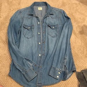 Gap Snap Button Denim Shirt